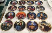 Star Trek The Next Generation 16Pc. Hamilton Plate Collection Set